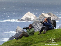 Photographing-Gannets at Hermaness by Carolyn Gerrard